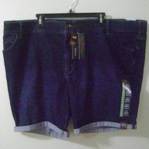 Lee Flex Motion Bermuda Denim Shorts Plus Size 28W
